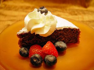 chocolate cake, polenta cake, italian cake, mary beth clark,