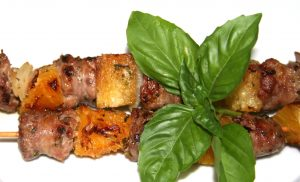 Grilled skewers, spiedini, grilled sausage recipes