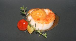 sea scallop burst tomatoes
