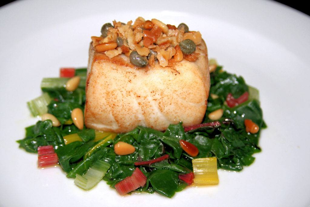 Passover Striped Bass - Swiss Chard