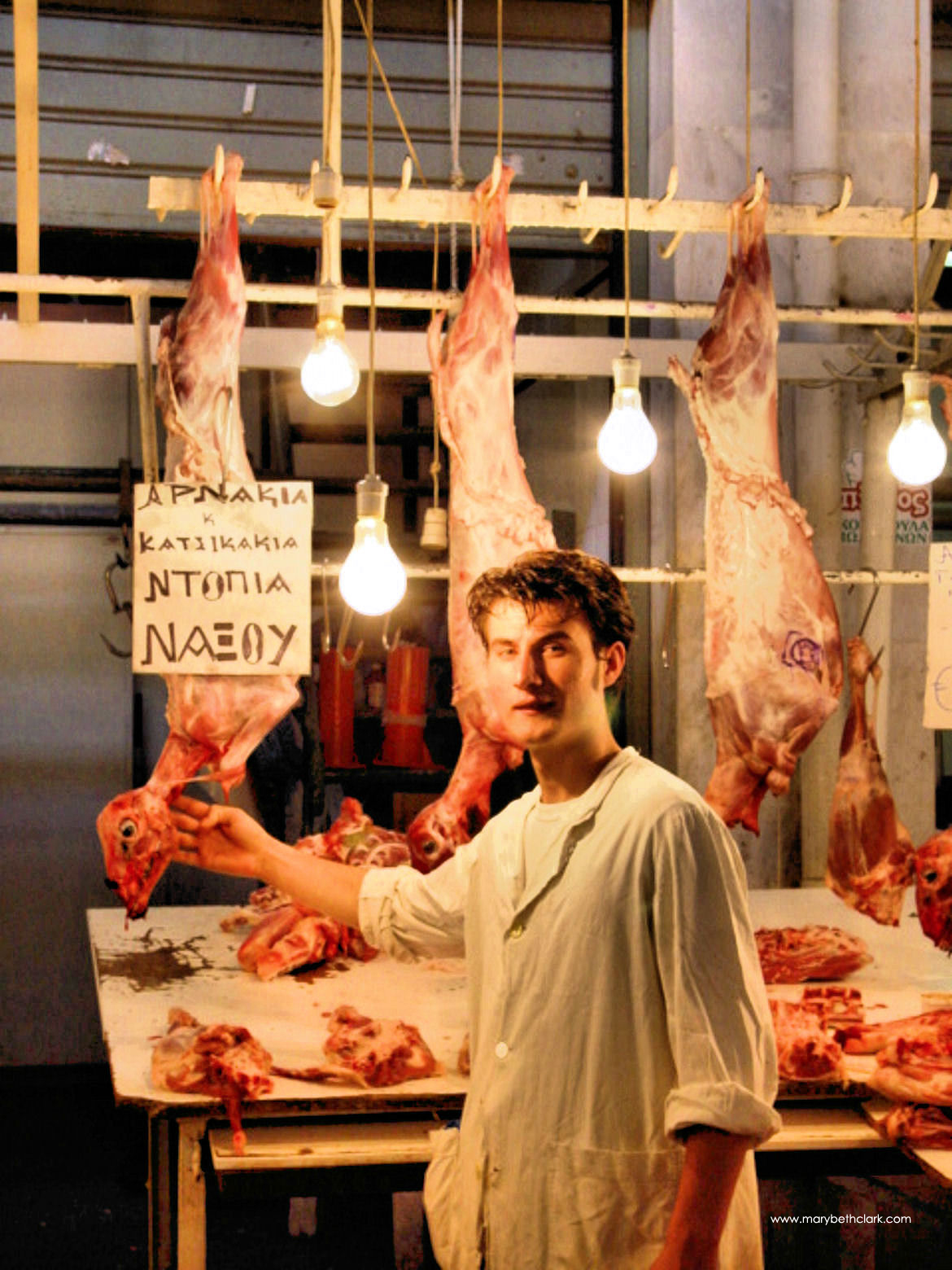 Athens Central Market: A Butcher