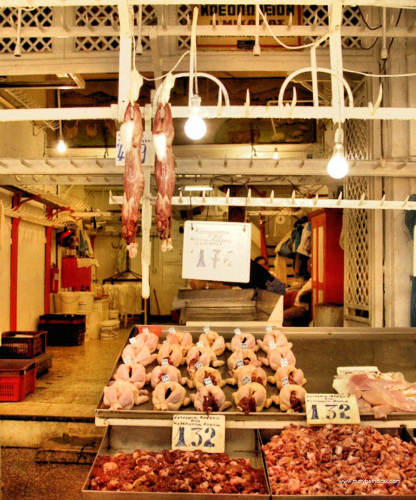 Athens Central Market: Chickens and Rabbits - 1170 pixels - 2