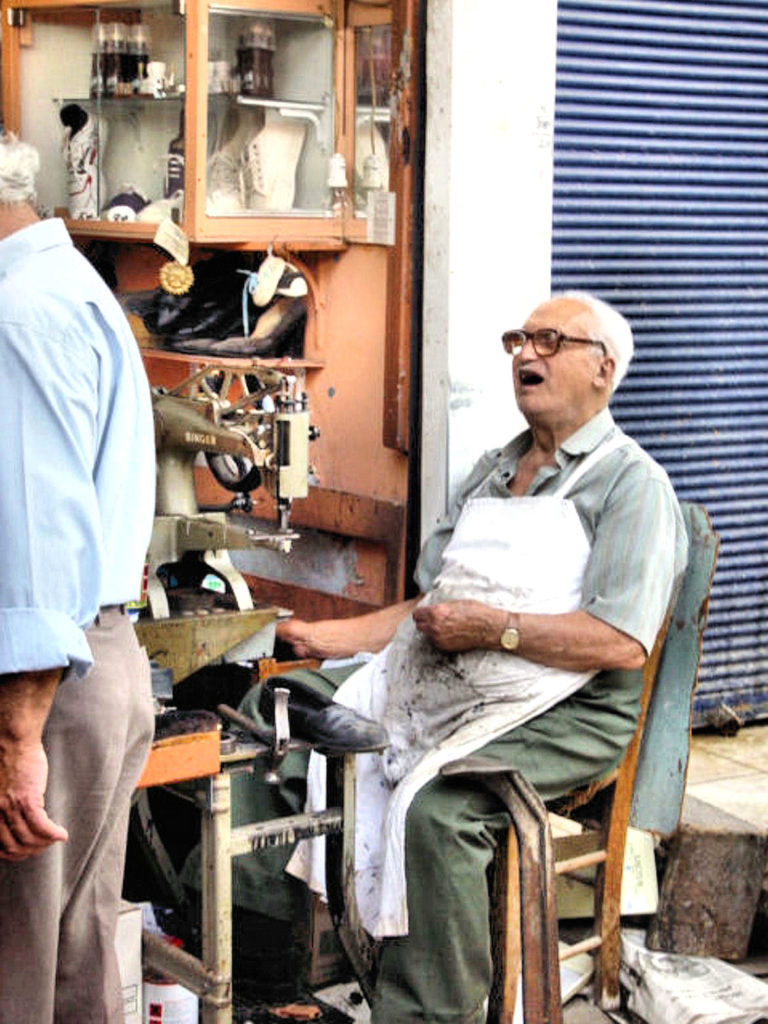 Greece - Crete - Heraklion: The Cobbler