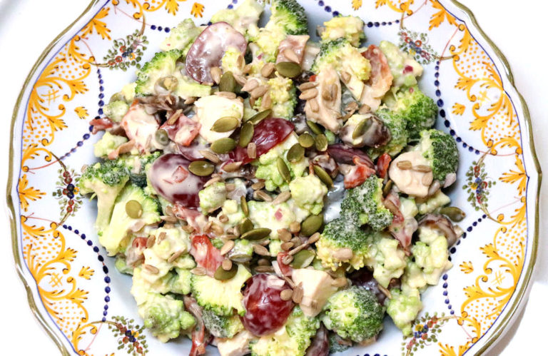 Broccoli Salad with Romanesco and Holiday Turkey - IMG_5327 - 1180
