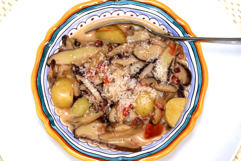 Potato and Wild Mushroom Soup