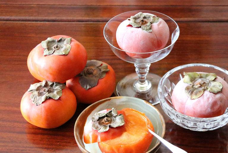 Frozen Persimmon as Sorbet