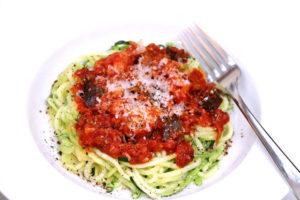 Spicy Cauliflower and Eggplant Ragu Ragùwith Nduja - Spiralized Zucchini Noodles - IMG_4975 - 1180 3